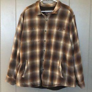 Eddie Bauer, fleece lined flannel- 2XL